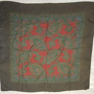 Vintage 100% silk scarf paisley floral pattern